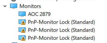 PnP-Monitor Lock driver is unsigned