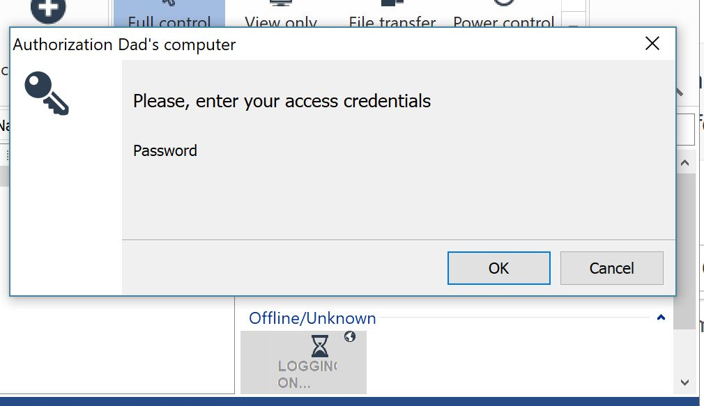 Unable to enter the password in the password field