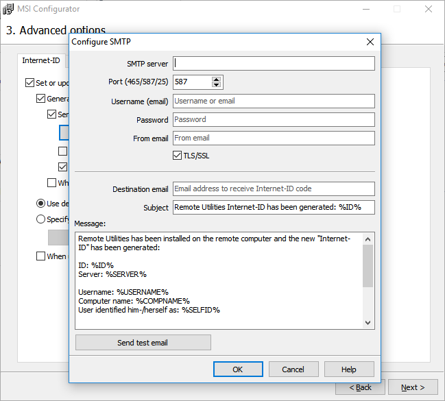 Version 6 10: Custom SMTP settings | Remote Utilities
