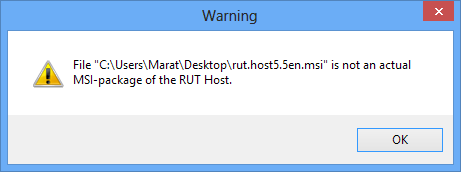 File is not actual MSI error
