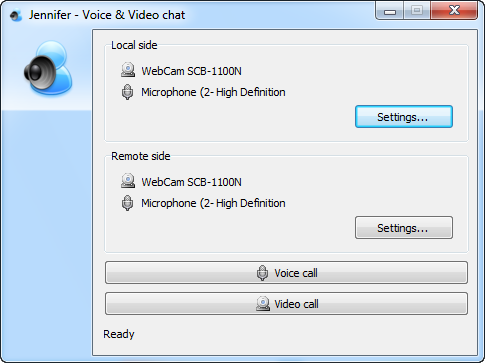 Voice and video chat settings