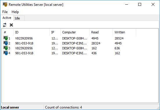 Remote Utilities Server full screenshot