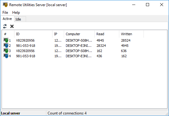 Remote Utilities Server 2.7.5.0