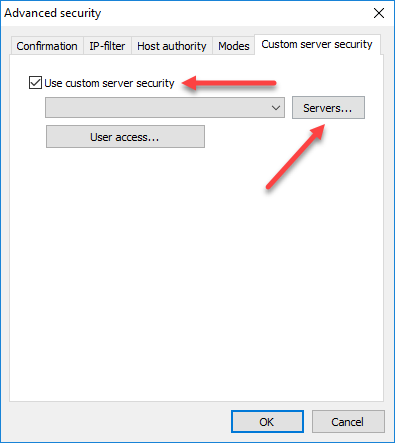 Host context menu