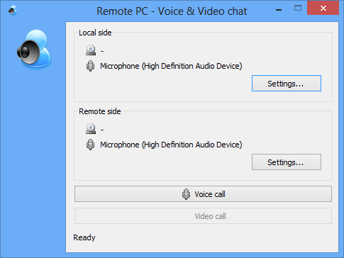 Voice and Video chat window