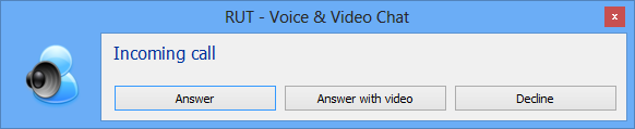 A call prompt window
