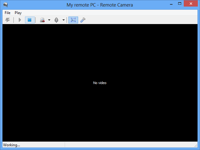 Remote Camera mode window