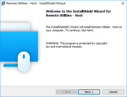 Install Shield Wizard window