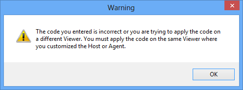 Incorrect code error message