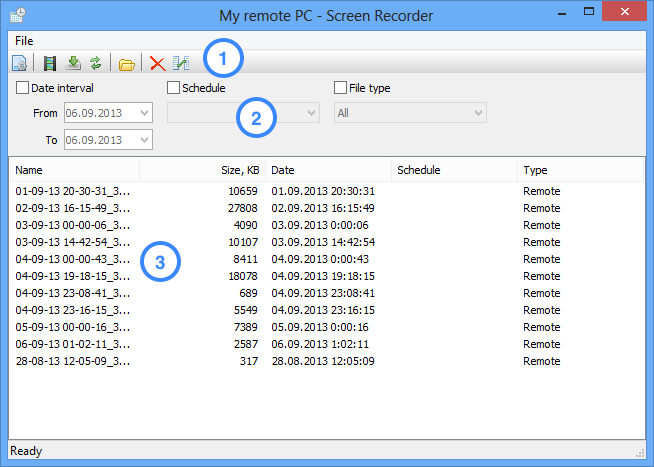 Screen Recorder window