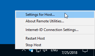 Click to view Remote Utilities Host 6.10.5.0 screenshot