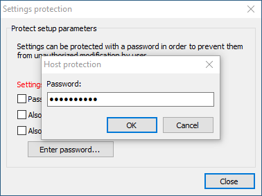 Entering current password