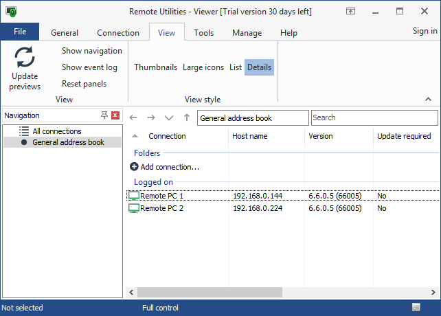 Updating Remote Utilities | Remote Utilities