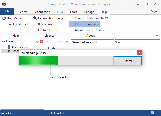 Updating Remote Utilities | Remote Utilities