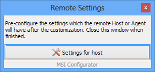 Host settings update step