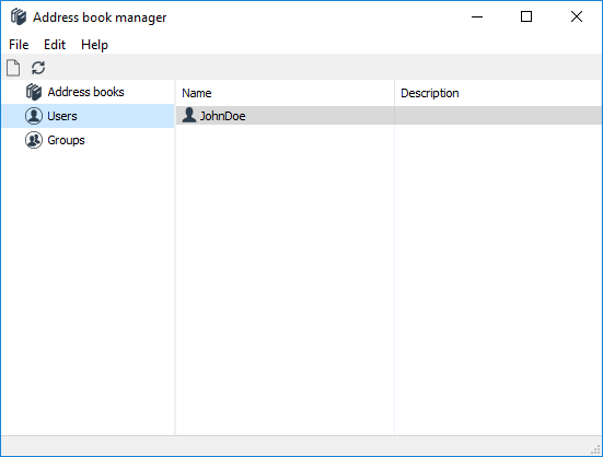 Server address book manager