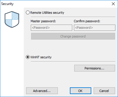 Security window - WinNT Security