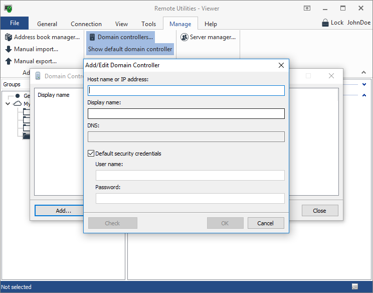 Add or edit a domain controller