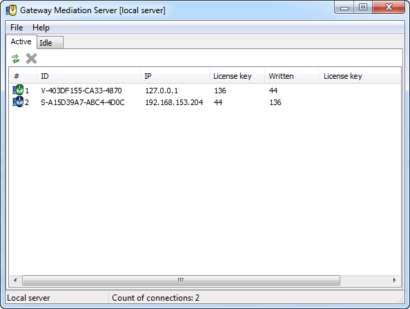 Click to view Gateway Mediation Server 1.0 screenshot