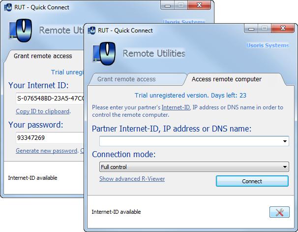 Quick Connect Screenshot